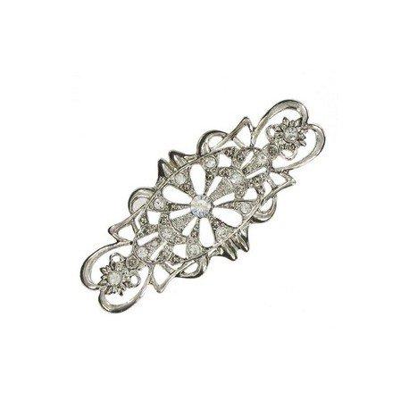 Broche Plata Cristal Circonitas
