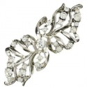 BROOCHES - PLATED: SILVER - IN COLOURS: CRYSTAL