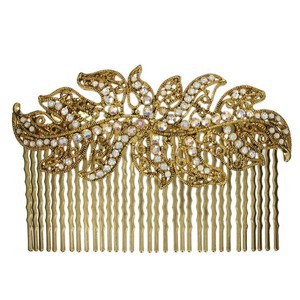 COMBS - PLATED: GOLD - IN COLOURS: TOPAZ