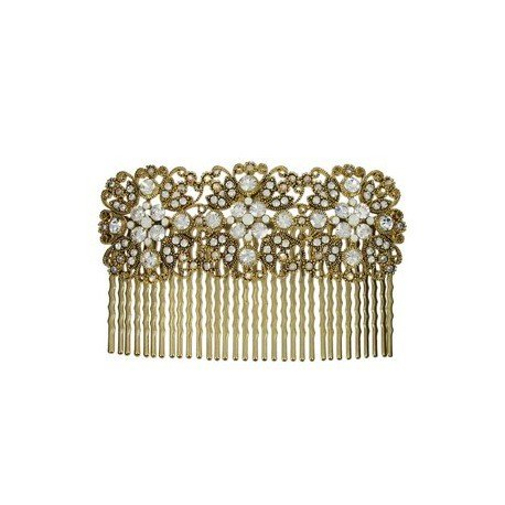 COMBS - PLATED: GOLD - IN COLOURS: WHITED, CRYSTAL