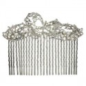 COMBS - PLATED: RHODIUM - IN COLOURS: CRYSTAL