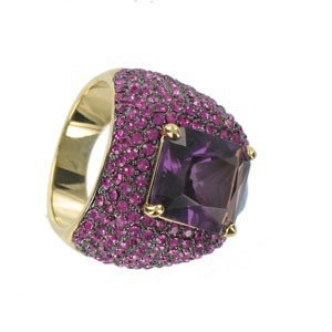 RINGS - PLATED: GOLD - IN COLOURS: PINK