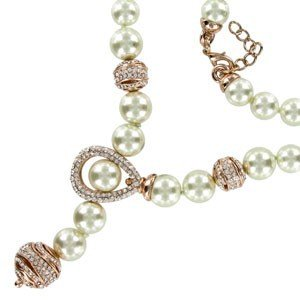 NECKLACES - PLATED: GOLD - IN COLOURS: CRYSTAL