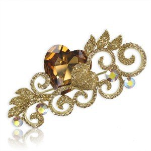 BROOCHES - PLATED: GOLD - IN COLOURS: TOPAZ