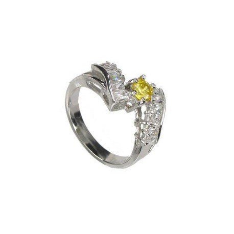 RINGS - PLATED: RHODIUM - IN COLOURS: YELLOW, CRYSTAL