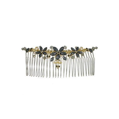 COMBS - PLATED: GOLD - IN COLOURS: BLACK, GRAY