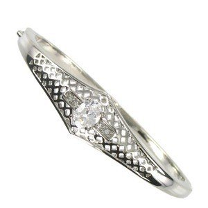 BRACELETS - PLATED: SILVER - IN COLOURS: CRYSTAL