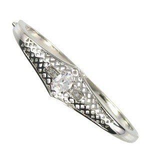 Pulsera de plata en color cristal. Con cristales, circonitas