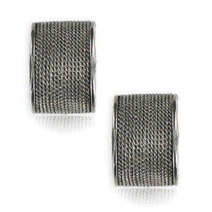 Pendientes de plata antigua. Cortos. Cierre de clip.