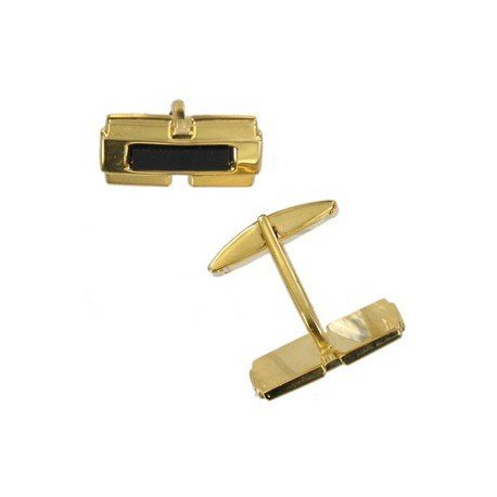 TWINS - PLATED: GOLD - IN COLOURS: BLACK