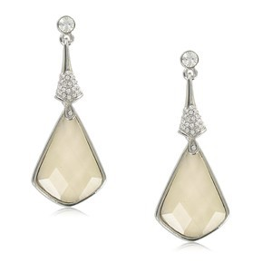 EARRING - PLATED: RHODIUM - IN COLOURS: WHITED