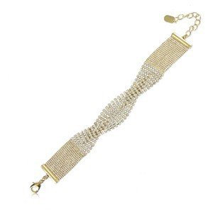 BRACELETS - PLATED: GOLD - IN COLOURS: CRYSTAL