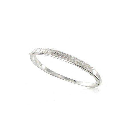 Pulsera de plata en color cristal. Tamaño pequeño. Con cristales