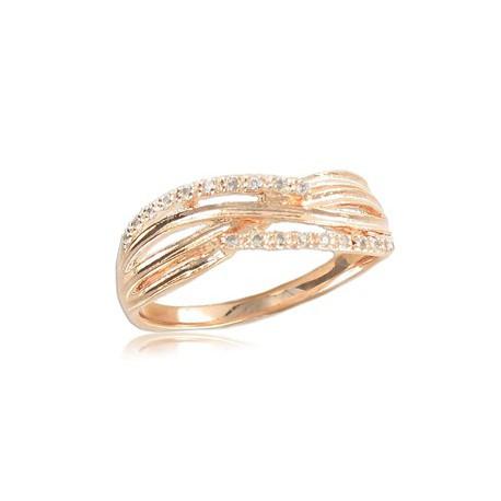 Sortija-Anillo de oro en color cristal. Con circonitas