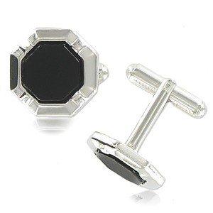 Gemelos Oro Blanco Rodio Hexagonales