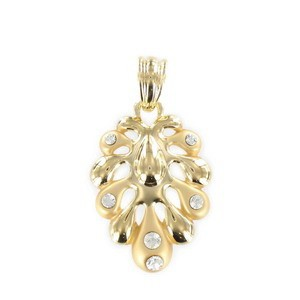 PENDANTS - PLATED: GOLD - IN COLOURS: CRYSTAL
