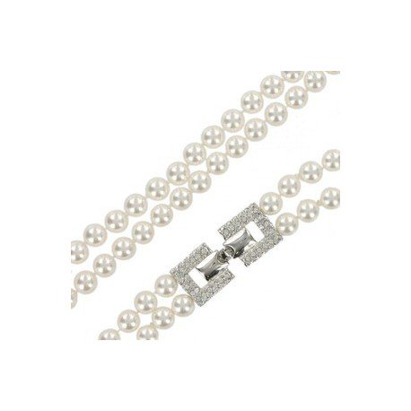 NECKLACES - PLATED: RHODIUM - IN COLOURS: WHITED, CRYSTAL