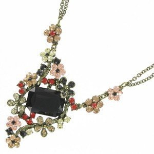NECKLACES - PLATED: ANTIQUE SILVER - IN COLOURS: MULTICOLOR