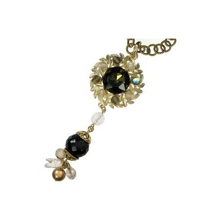 NECKLACES - PLATED: GOLD - IN COLOURS: BLACK