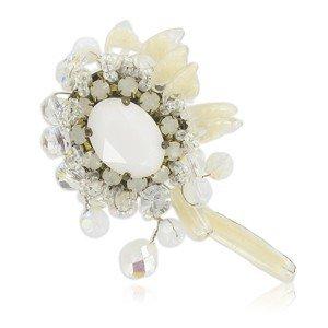 Broche Oro Cristales Fornituras Vintage