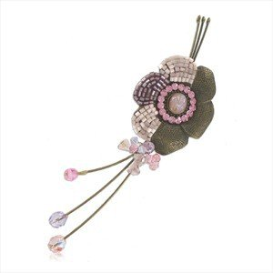 BROOCHES - PLATED: GOLD - IN COLOURS: BLUE, PURPLE, PINK