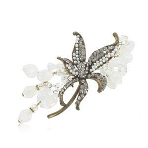 BROOCHES - PLATED: GOLD - IN COLOURS: WHITED