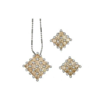 SETS - PLATED: RHODIUM - IN COLOURS: TOPAZ, BROWN, CRYSTAL