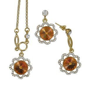 SETS - PLATED: GOLD - IN COLOURS: TOPAZ, BROWN, CRYSTAL