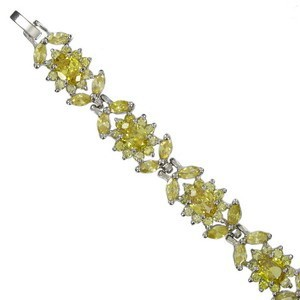 BRACELETS - PLATED: RHODIUM - IN COLOURS: YELLOW