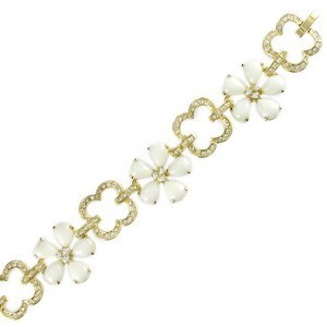 BRACELETS - PLATED: GOLD - IN COLOURS: WHITED, CRYSTAL