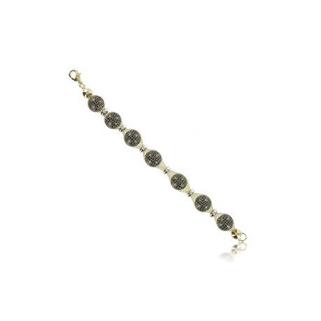 BRACELETS - PLATED: GOLD - IN COLOURS: BLACK