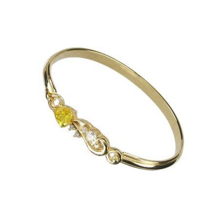 BRACELETS - PLATED: GOLD - IN COLOURS: YELLOW, CRYSTAL