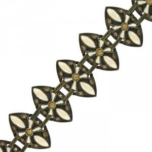 BRACELETS - PLATED: ANTIQUE GOLD - IN COLOURS: WHITED
