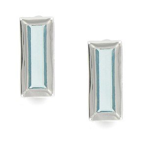 EARRING - PLATED: SILVER - IN COLOURS: BLUE
