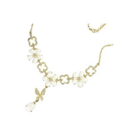 NECKLACES - PLATED: GOLD - IN COLOURS: WHITED