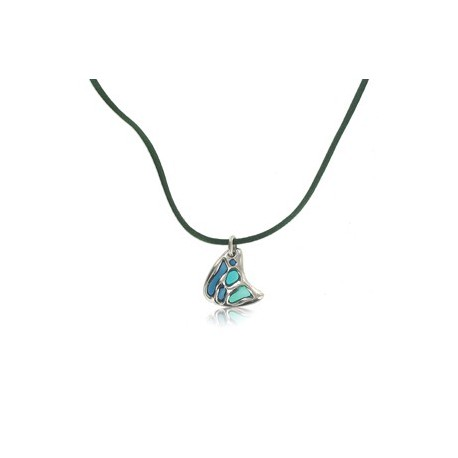 NECKLACES - PLATED: SILVER - IN COLOURS: GREEN, BLUE