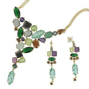 SETS - PLATED: GOLD - IN COLOURS: GREEN, MULTICOLOR