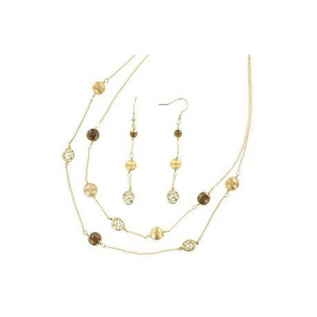 SETS - PLATED: GOLD - IN COLOURS: TOPAZ