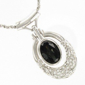NECKLACES - PLATED: SILVER - IN COLOURS: BLACK