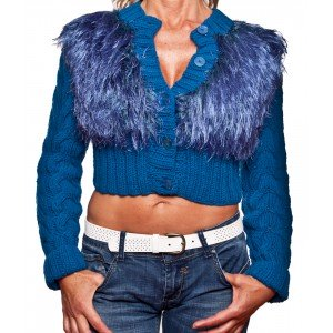 ELECTRIC BLUE SHORT CARDIGAN