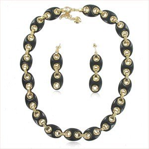SETS - PLATED: GOLD - IN COLOURS: BLACK
