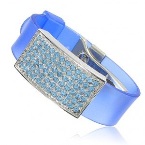 BRACELETS - PLATED: RHODIUM - IN COLOURS: BLUE