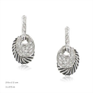 - PLATED: ANTIQUE SILVER - IN COLOURS: CRYSTAL