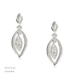 - PLATED: SILVER - IN COLOURS: CRYSTAL