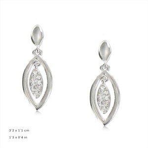 Pendientes Plata Cristal Medianos