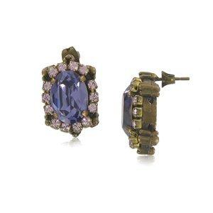 Pendientes Oro Antiguo Vintage Violeta