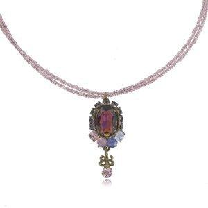 Gargantilla Oro Antiguo Vintage Violeta