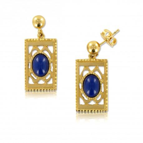 0a7186f230b7 Pendientes Oro Piedra Lapislázuli