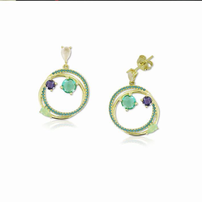 Pendientes En Plata De Ley Y Ba O Oro Jewels By Olga