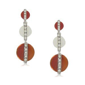 EARRING - PLATED: RHODIUM - IN COLOURS: WHITED, TOPAZ, BROWN, CRYSTAL